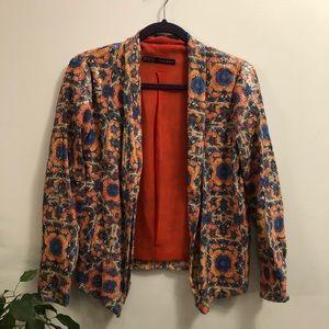ZARA Multi Colored Sequin Blazer